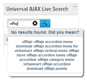 Universal AJAX live search suggestion