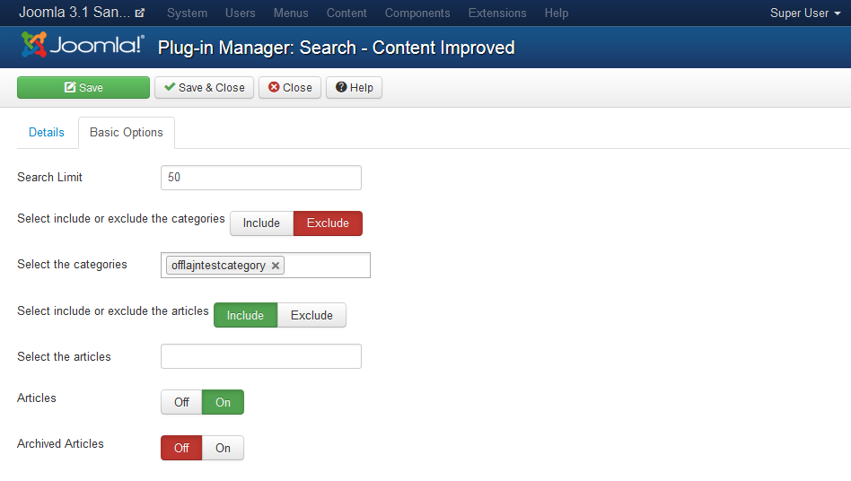 Content Improved Search Plugin