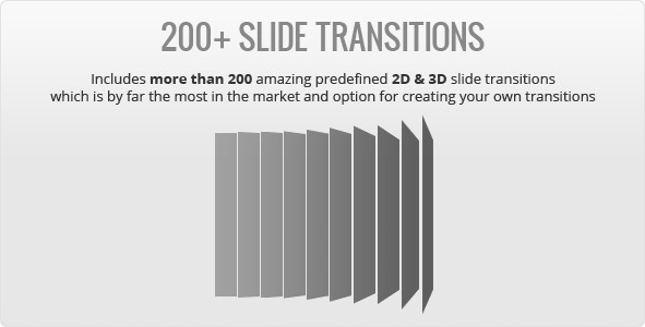 More than 200 transitions