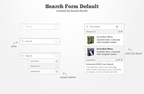 Search Form Default Theme