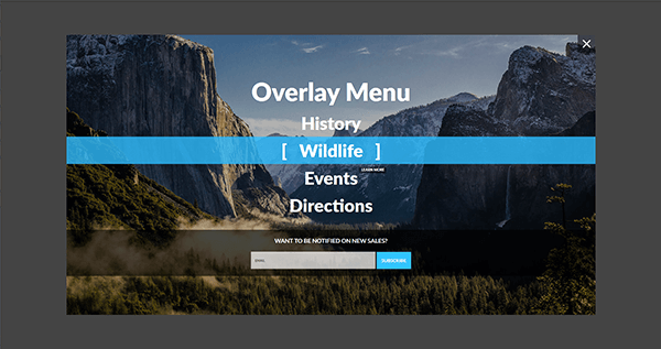 Vertical Menu - Overlay