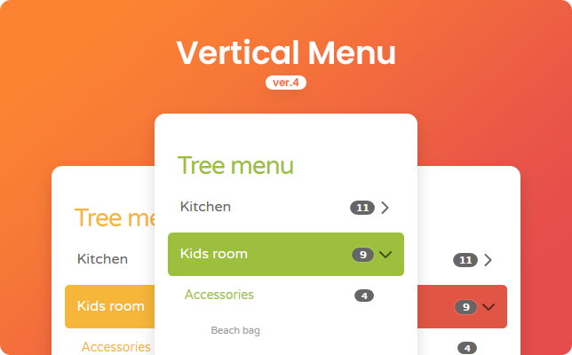 Vertical Menu - Rounded Theme